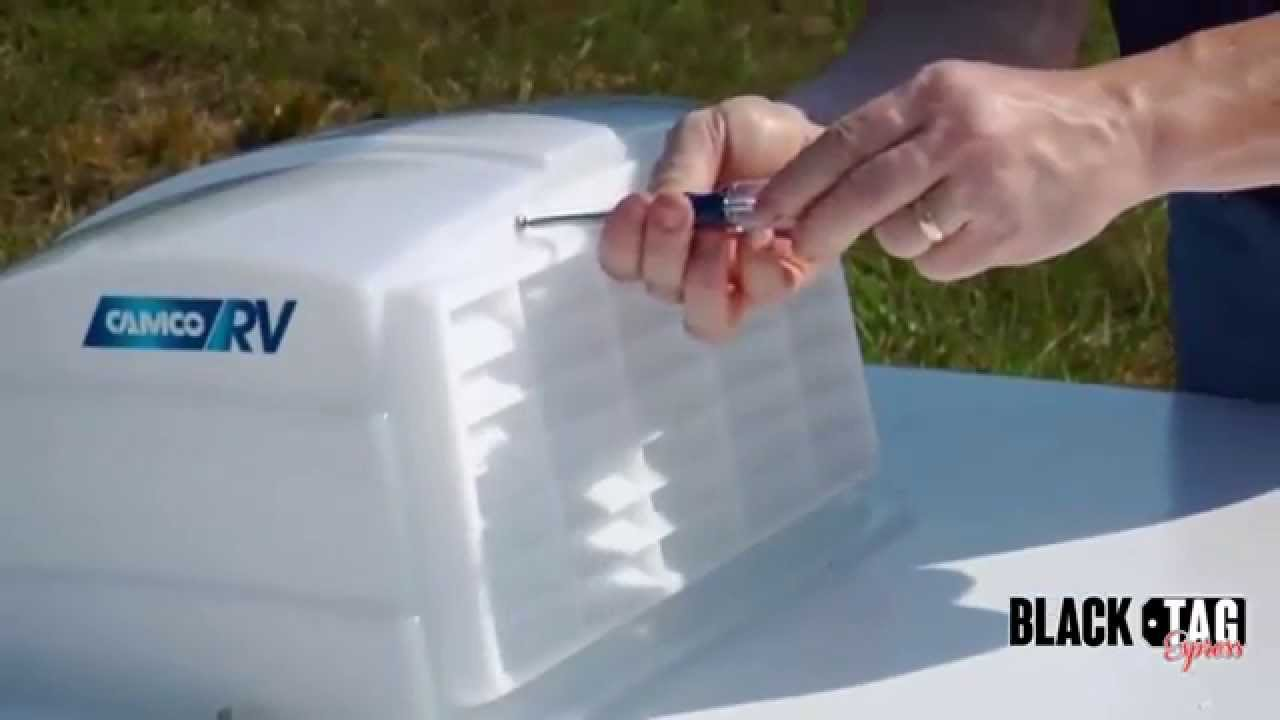 Camco Roof Vent Cover - RV Roof Vent Cover - YouTube
