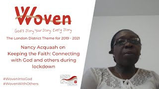 Nancy Acquaah on keeping the faith during lockdown