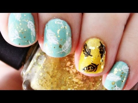 Feather Nail Art