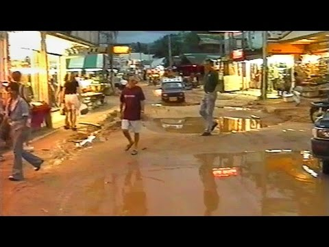 Koh Samui Chaweng Beach Road 1998 before it was Concrete