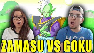 DRAGON BALL SUPER English Dub Episode 53 ZAMASU VS GOKU REACTION & REVIEW