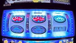 Awesome WIN on Triple Double Diamond Slot Machine & Live Play!