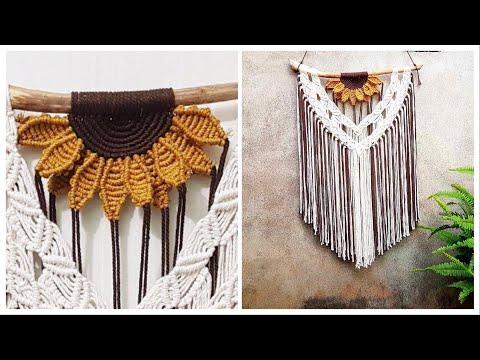 diy-macrame-wall-hanging,-sunflower-pattern