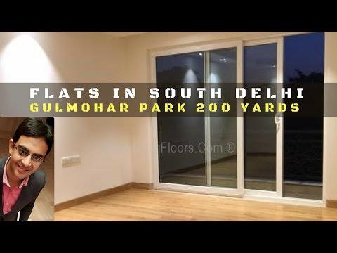 Flats in South Delhi - Gulmohar Park Delhi Property Prices - 200 Yards First Floor