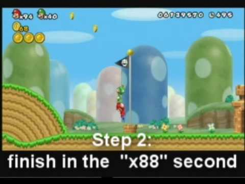New Super Mario Bros Wii   How to get infinite items without hacks