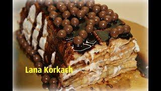 Нереально Вкусный Торт Без Выпечки/Сметанный крем/Банан/Печенье