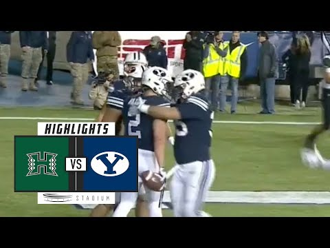 Hawaii vs. BYU Football Highlights (2018) | Stadium
