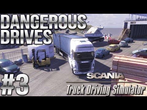 Dangerous Drives #3 (Castle Fix, Ferry, Congested Unloading, Dangerous Beauty) - Scania Truck