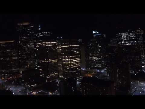 Calgary at Night in 90 Seconds (drone)