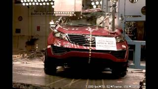 Kia Sportage | 2012 | Pole Crash Test by NHTSA | CrashNet1