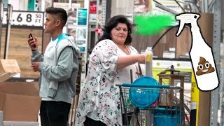 Farting on People in PUBLIC PRANK **Fart Spray**