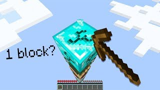 Minecraft UHC but you only get 1 block...