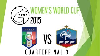 2GA Women's World Cup 2015 | Quarterfinal 3 | Italy vs. France