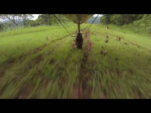 Cessna 185   Taking off and Landing on a Muddy Jungle Airstrip