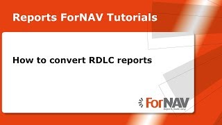 How to convert RDLC reports