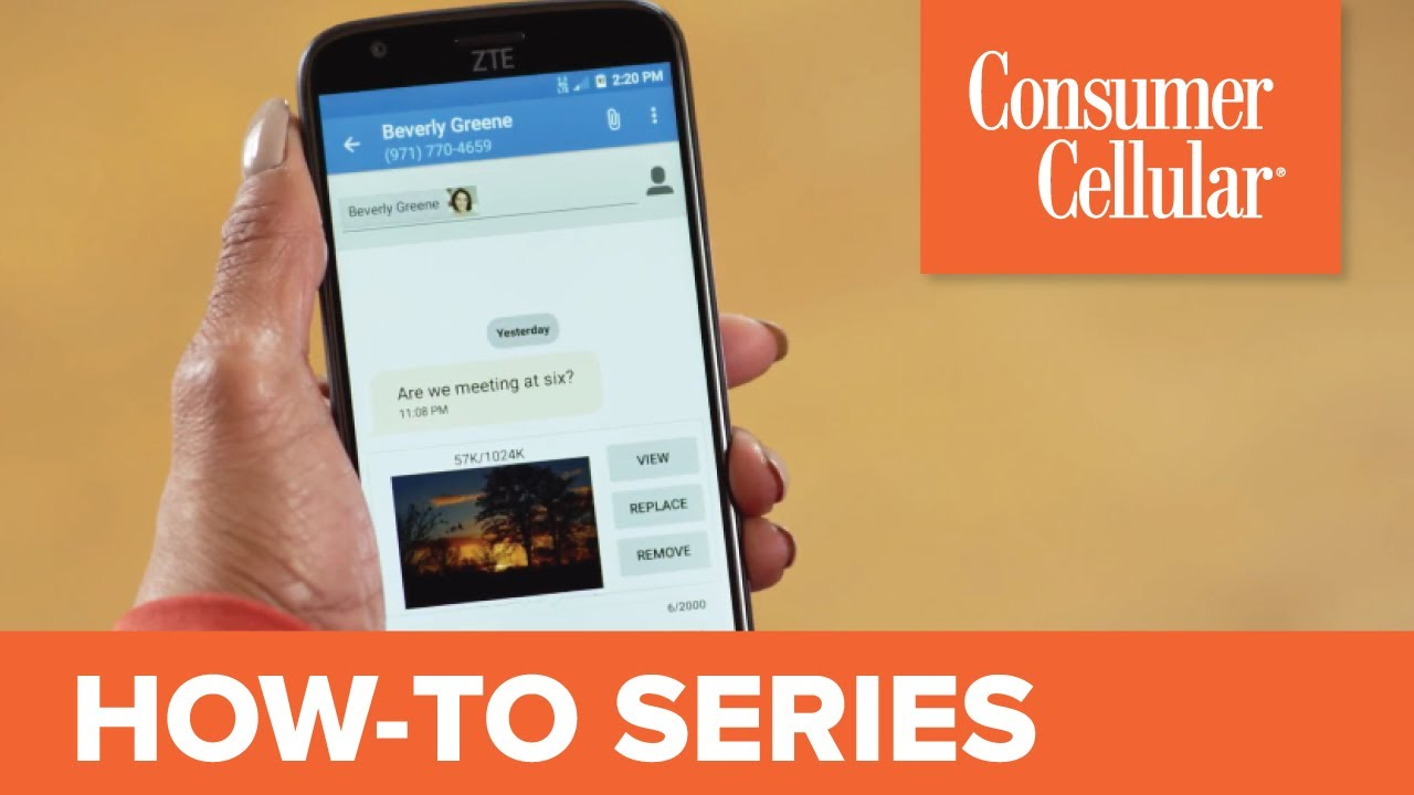 ZTE Avid 916: Sending and Receiving a Text Message (4 of 11) | Consumer  Cellular