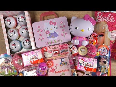 HELLO KITTY  BARBIE Candy Toys DISNEY PRINCESS Minnie Mouse Kinder Surprise Playmobil PEZ