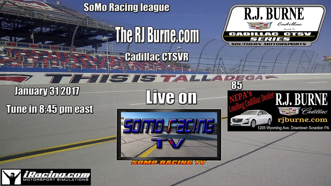 The Rj Burne Com Cadillac Ctsvr Talladega 85 Youtube