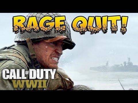 RAGE QUITTIN'! COD WW2 Multiplayer Anger!