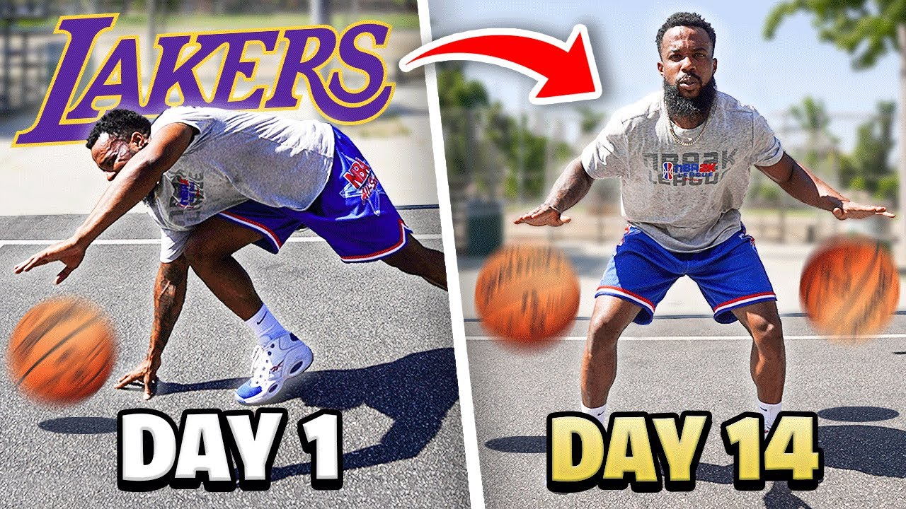 I Trained My Basketball Ball Handling Skills w/ Lakers 2 Week Program And This Happened...
