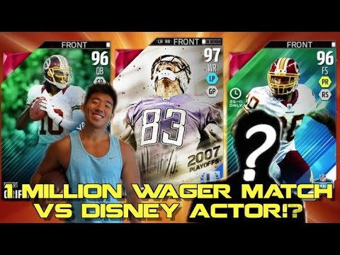 1 MILLION COIN WAGER VS A DISNEY PIXAR MOVIE ACTOR!? Madden 16 Draft Champions!