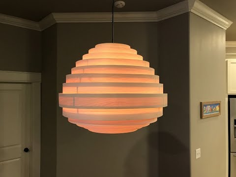 Maple Veneer Hanging Lamp