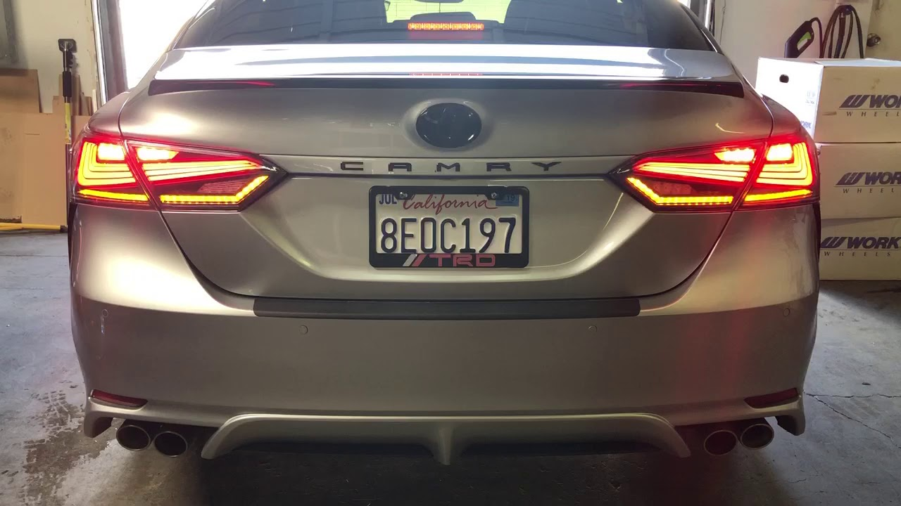 2018+ Toyota Camry LED Fiber Tail Lights / Sequential Turn Signals