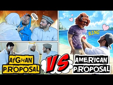 AFGHAN PROPOSAL VS AMERICAN PROPOSAL!! || MARRIAGE!