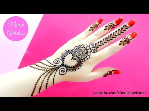 Eid Mehndi Design 2019 | Eid Mehndi Design | Super Easy Mehndi Design tutorial - Naush Artistica thumbnail