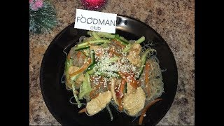 Фунчоза с курицей и соусом терияки: рецепт от Foodman.club