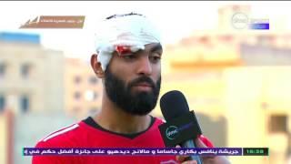 دوري dmc - تصريحات محمد حسان مدافع الاتصالات المصاب ويحكي لقطة بكاء ابنه