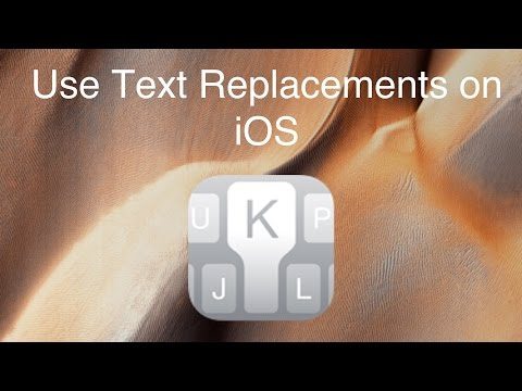 Use Text Replacement on iOS