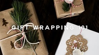 How To: DIY Minimal Gift Wrapping for the Holidays! ❄️ 🎄 🎅