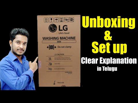 LG AUTOMATIC WASHING MACHINE UNBOXING AND SETUP|TECH