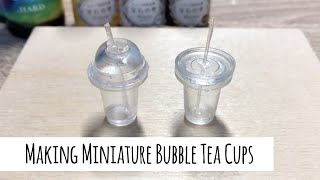 How to Make Miniature Bubble Tea Cups with UV Resin and Moulds - by RintyCrafty