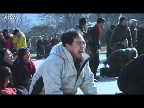 North Koreans weeping hysterically over the death of Kim Jong-il