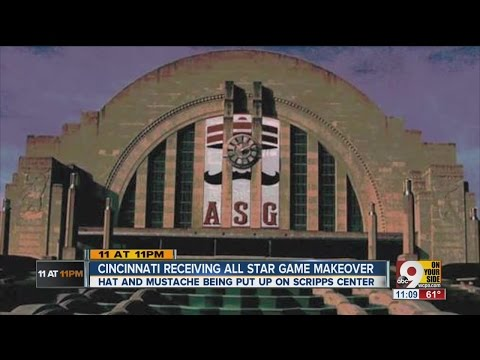 All-Star makeover: Cincinnati's iconic buildings getting dressed up for All-Star Game