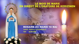 Rosaire du  mardi 18 mai