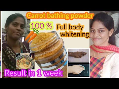 Download Carrot bath powder Tamil/skin whitening  carrot bath powder Tamil/ Diy skin brightening bath powder
