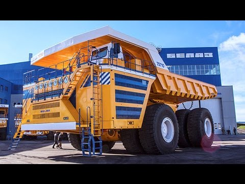 the biggest dump truck in the world belaz 75710 youtube. Black Bedroom Furniture Sets. Home Design Ideas