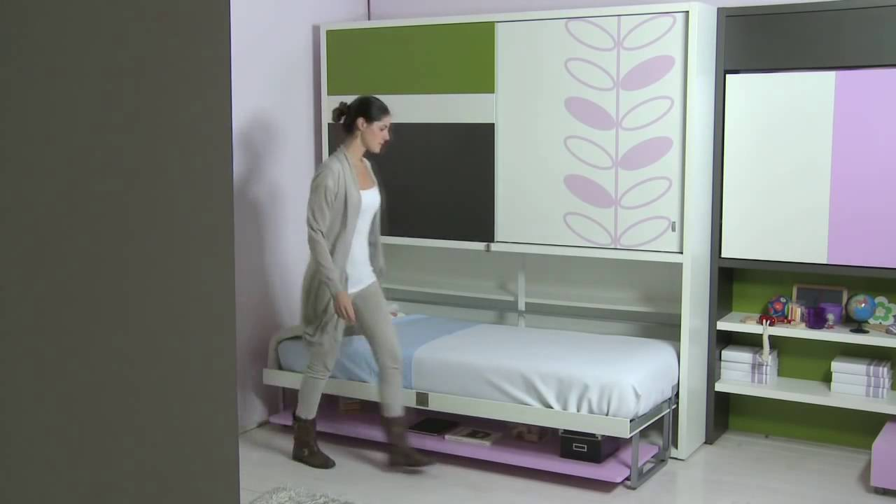 SizeDesign.it | Letti a scomparsa, letto singolo con armadio CLEI ...