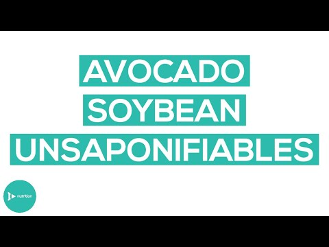 Managing Osteoarthritis with Avocado Soybean Unsaponifiables
