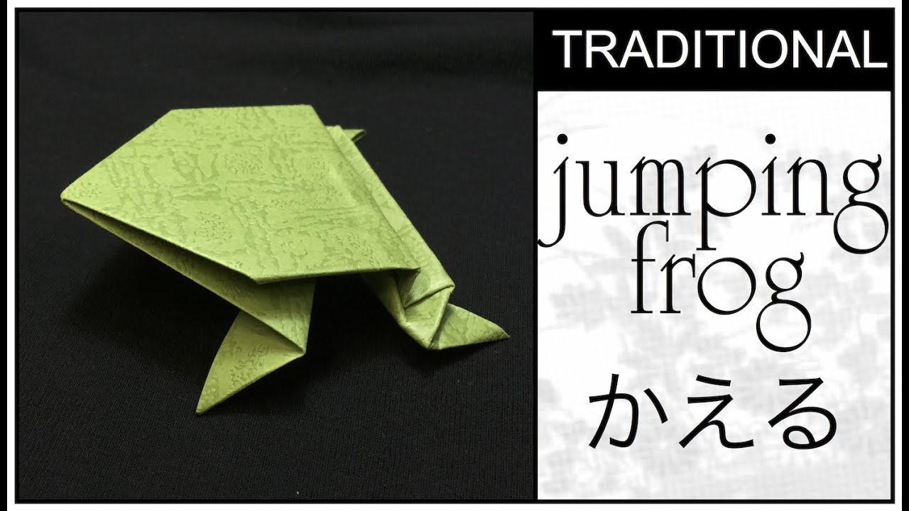 Traditional Origami Jumping Frog Tutorial - YouTube - photo#22