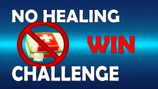 NO HEALING CHALLENGE IN TILTED TOWERS - (Fortnite Battle Royale)