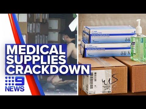 Coronavirus: Government Efforts To Jail Reselling Medical Supplies Overseas | Nine News Australia