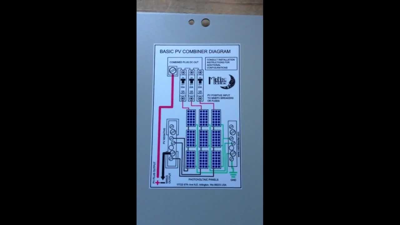 Installing a Solar Off-Grid System 19- MidNite Solar Combiner Box ...