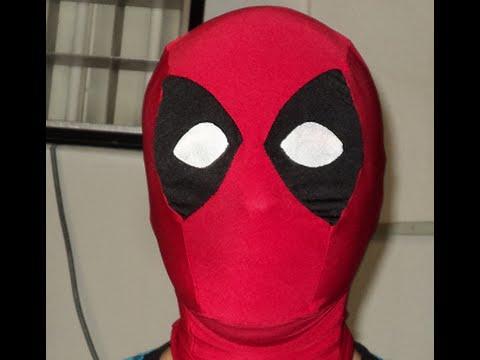 Como hacer la mascara de Deadpool. Mascara de Deadpool tutorial ...