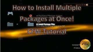 How to Install Multiple Packages At Once PS3 CFW Tutorial!