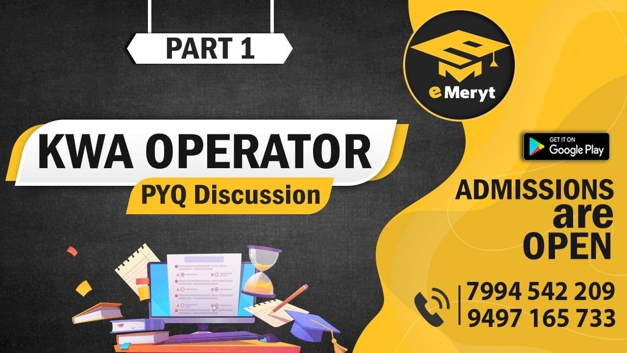 Download KWA OPERATOR 2015 Question Paper Discussion Part 1