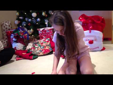 Girl cries over Christmas puppy!